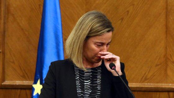 "Mogherini: ""Le mie lacrime per le vittime di Bruxelles"""