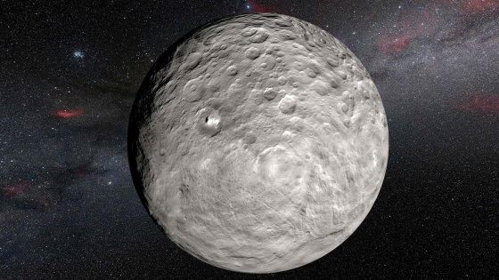 Scoperta acqua sul pianeta nano Cerere, con lo spettrometro italiano Vir