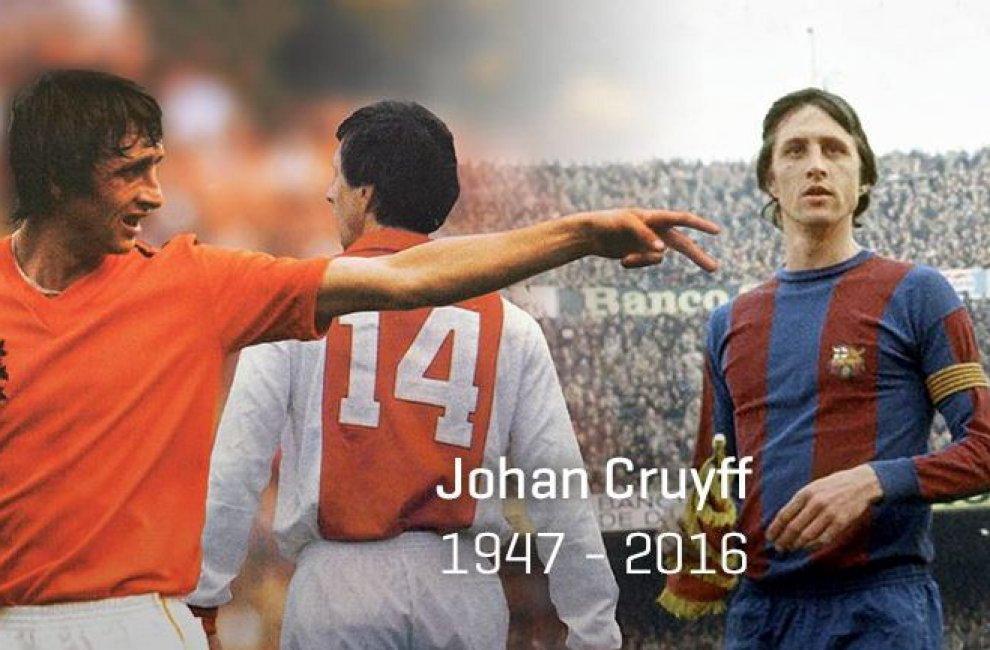 Morte Johan Cruyff, i tweet d'addio al campione olandese