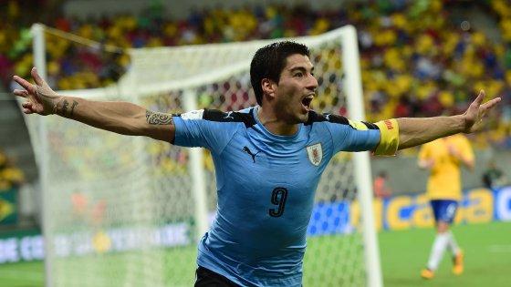 Mondiali 2018: ritorno con gol per Suarez, l'Uruguay rimonta il Brasile