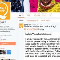 Strage a Lahore, la condanna di Malala: