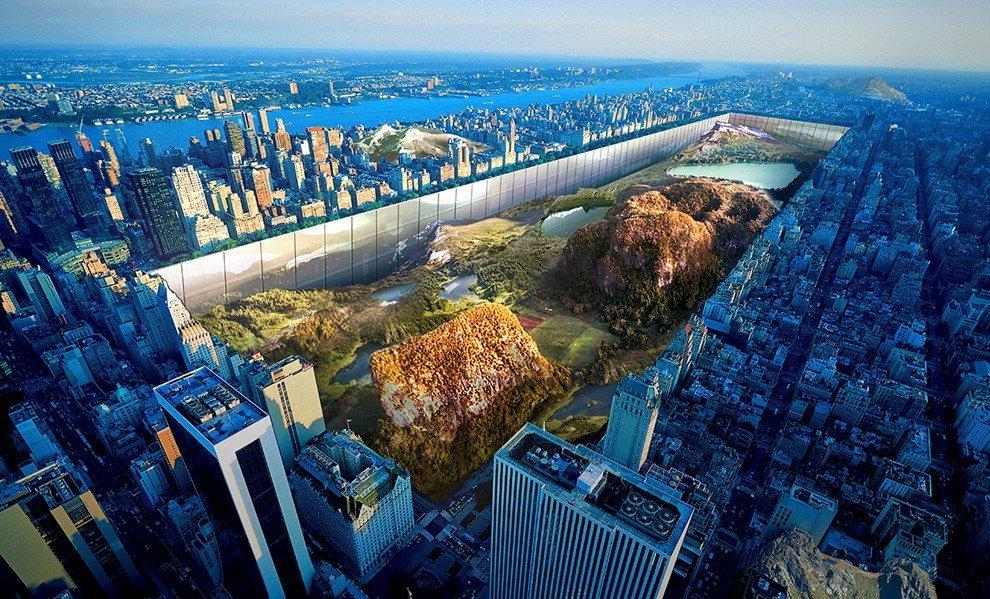 Architettura estrema, Central Park cento piani più giù e l'alveare di droni: i progetti premiati