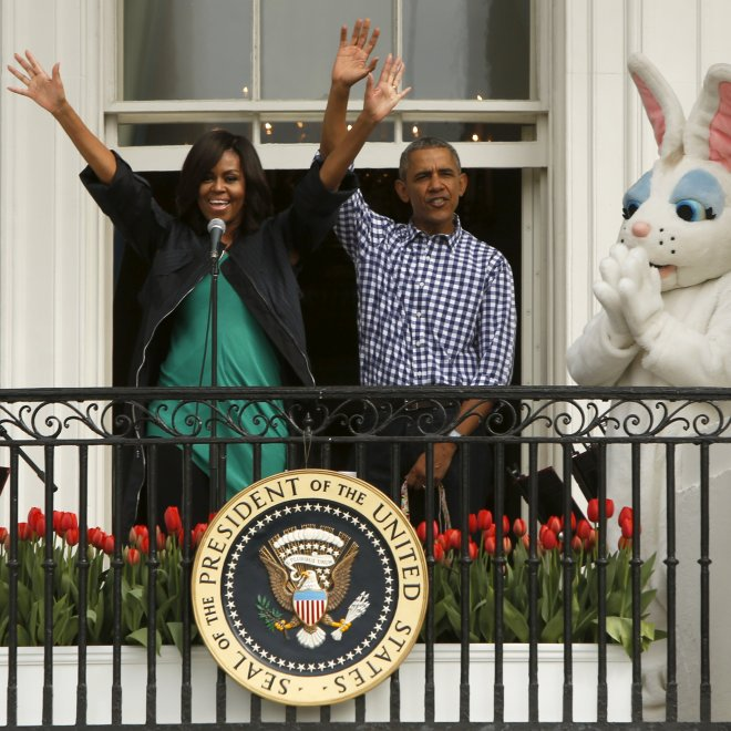 Pasqua, caccia alle uova alla Casa Bianca: tra conigli, Shaquille O'Neal e Beyoncé