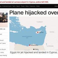 Volo Egypt Air dirottato a Cipro: la notizia sui siti stranieri