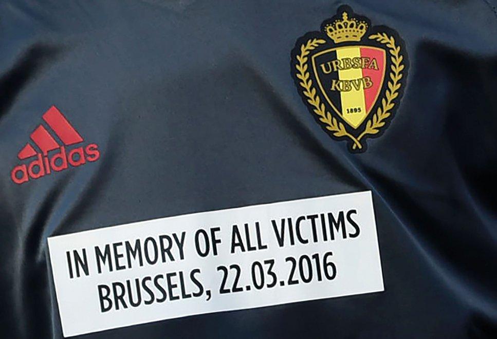 Belgio, con il Portogallo maglia dedicata alle vittime di Bruxelles