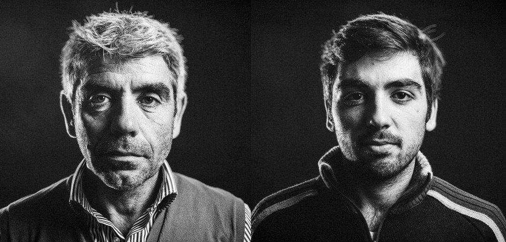 Nuoro, metà padre e metà figlio: un unico volto per due storie