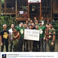 Leonardo DiCaprio in Indonesia contro l'olio di palma