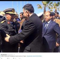Tripoli, l'arrivo del nuovo governo Serraj via mare