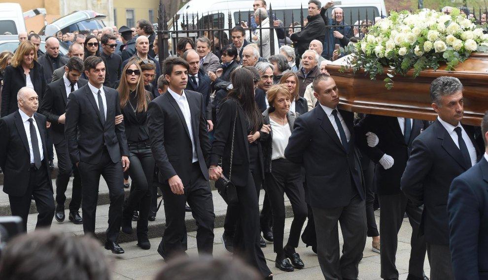 Milano, i funerali di Cesare Maldini
