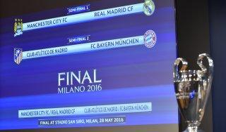 Champions: semifinali Atletico-Bayern e Manchester City-Real
