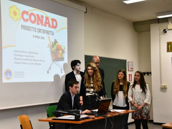 Business Game Conad alla Cattolica, ecco tutti i lavori degli studenti
