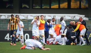 Verona-Frosinone 1-2, Frara spinge l'Hellas in B