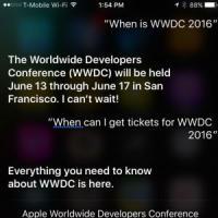 Il WWDC 2016 di Apple al via il 13 giugno: lo rivela Siri
