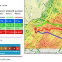 In Canada un'app indica a ciclisti il percorso dove c'è meno smog