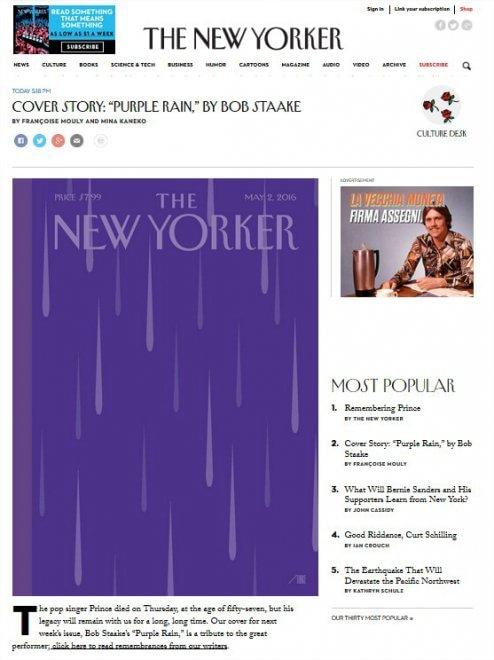 Morto Prince, la notizia sui principali quotidiani online