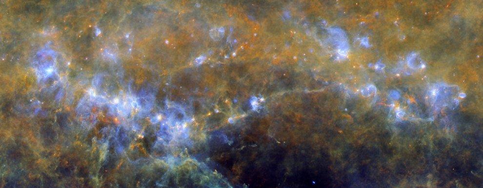 Via Lattea incubatrice di stelle: ecco il censimento del satellite Herschel