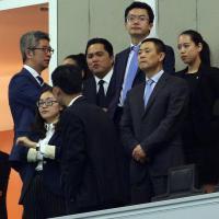 Inter-Udinese, Thohir in tribuna con la delegazione cinese