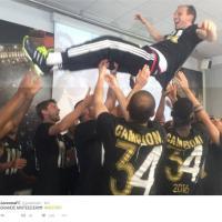 Juve, campione d'Italia: la festa sui social