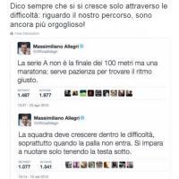 Juventus campione d'Italia, la rivincita di Allegri: ripubblica i tweet della crisi