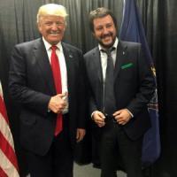 """Salvini: """"Trump è come me, non è razzista, lo aiuto con Putin"""""""