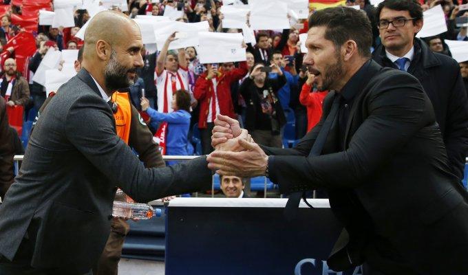 """Simeone: """"Finale ancora lontana"""". Guardiola: """"Comandato a lungo"""""""