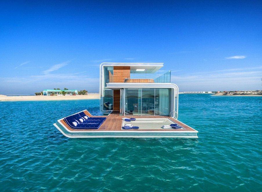 Dubai la camera da letto sommersa rifugi extralusso for 5 piani di casa di tronchi di camera da letto
