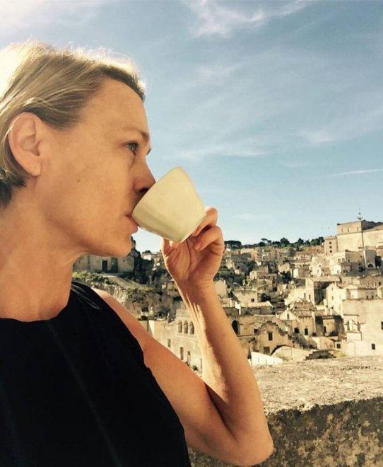 House of cards, Claire è a Matera: Robin Wright su Facebook tra i Sassi