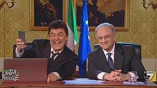 "Crozza, diretta Fb Renzi-De Luca ""Noi come nel film Casablanca"""