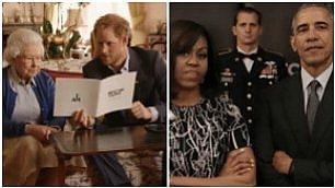 """Lo spot della regina con Harry """"Barack e Michelle, oh please"""""""