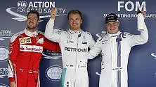 Rosberg in pole, Vettel settimo e Hamilton 10°