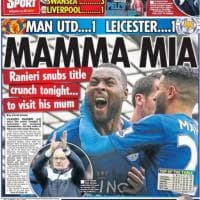 """Leicester, i giornali celebrano la visita di Ranieri alla madre: """"Mamma mia"""""""