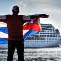 Cuba, Adonia arriva all'Avana: è la prima nave da crociera statunitense in 50 anni