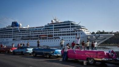 Cuba, festa per l'arrivo della nave Adonia  la prima crociera Usa dopo 50 anni  -    foto