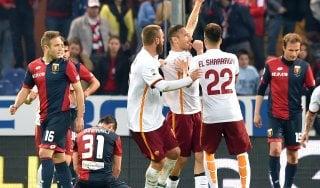 Genoa-Roma 2-3, giallorossi ancora nel segno di Totti