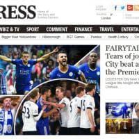 Leicester campione, la notizia sui siti inglesi