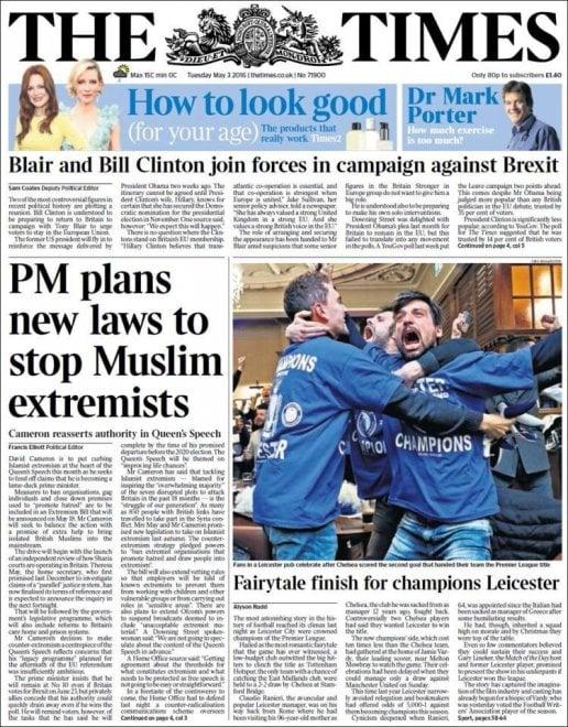Leicester campione, le prime pagine dei giornali internazionali