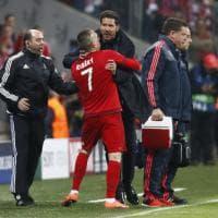 Simeone-Ribery, rissa sfiorata