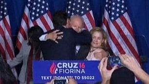 Ted Cruz, addio con gomitata  colpo involontario alla moglie