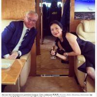 Ranieri, brindisi al titolo sul jet privato del patron thailandese