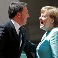 """Renzi: """"Sui migranti tra Italia e Germania forte convergenza sull'approccio umanitario"""""""