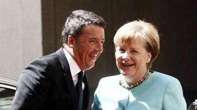 """Brennero, Merkel al fianco di Renzi """"No a confini chiusi""""   video"""
