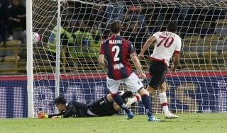 Bologna-Milan 0-1: decide un rigore di Bacca, i rossoneri rivedono l'Europa