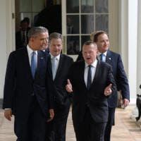 Obama, vertice con i leader del Nord Europa