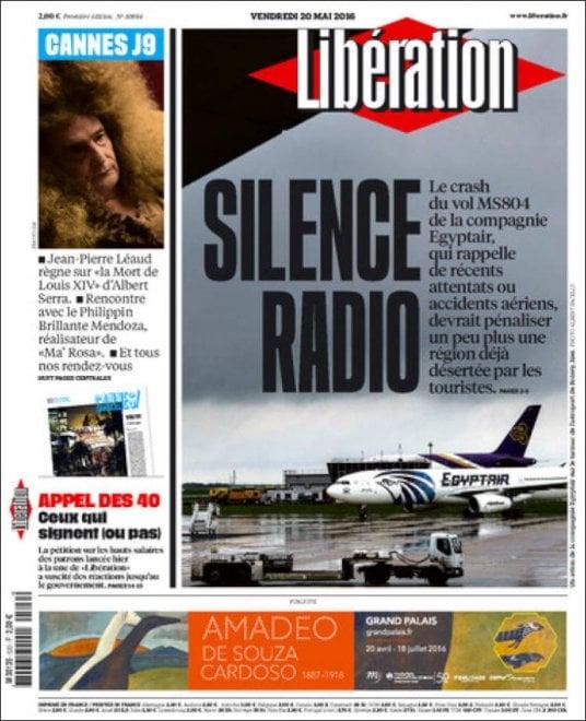 Volo Egyptair, la tragedia sulle prime pagine della stampa internazionale