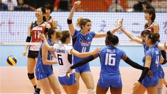 Volley, preolimpico: battuto il Giappone, le azzurre volano a Rio