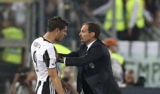 """Juventus, Allegri: """"Morata? Per crescere dovrebbe rimanere. Difficile migliorare questa squadra"""""""