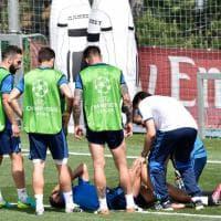 Real Madrid, paura per Cristiano Ronaldo: botta in allenamento