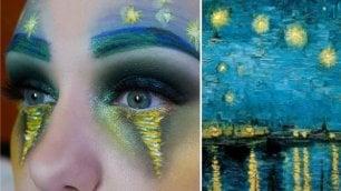 Si trucca il viso ispirandosi a quadri famosi: la trasformazione della make-up artist