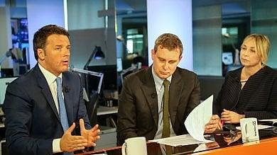 """Rep tv  Videoforum con Matteo Renzi   video   """"Candidati M5s co.co.pro. della Casaleggio I politici del no temono per le poltrone"""""""