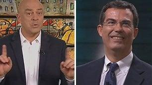 """Crozza a Floris: """"Sei un giornalista vero o al referendum voti No?"""""""